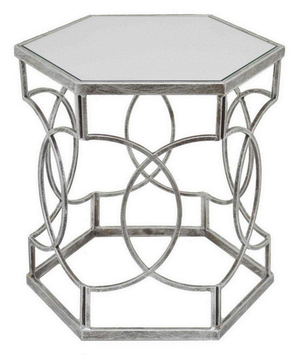Silver Hexagon Mirror Accent Table Zulily Mirrored Accent Table Hexagon Mirror Accent Table