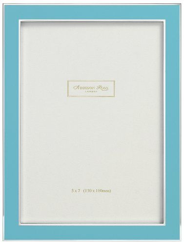 Addison Ross, Contemporary Photo Frame, 5x7 , Blue Enamel, 5 x 7 Inches Addison Ross