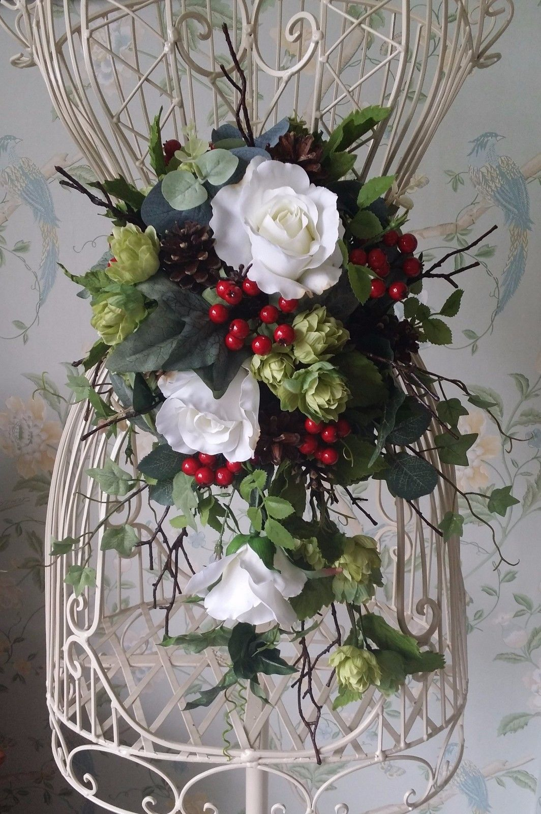 Details about Autumn Winter Rose Christmas Silk Brides