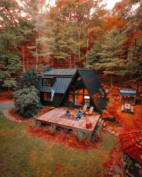 9 Best A Frame Cabins You Can Rent On Airbnb House In The Woods A Frame House Plans House Styles