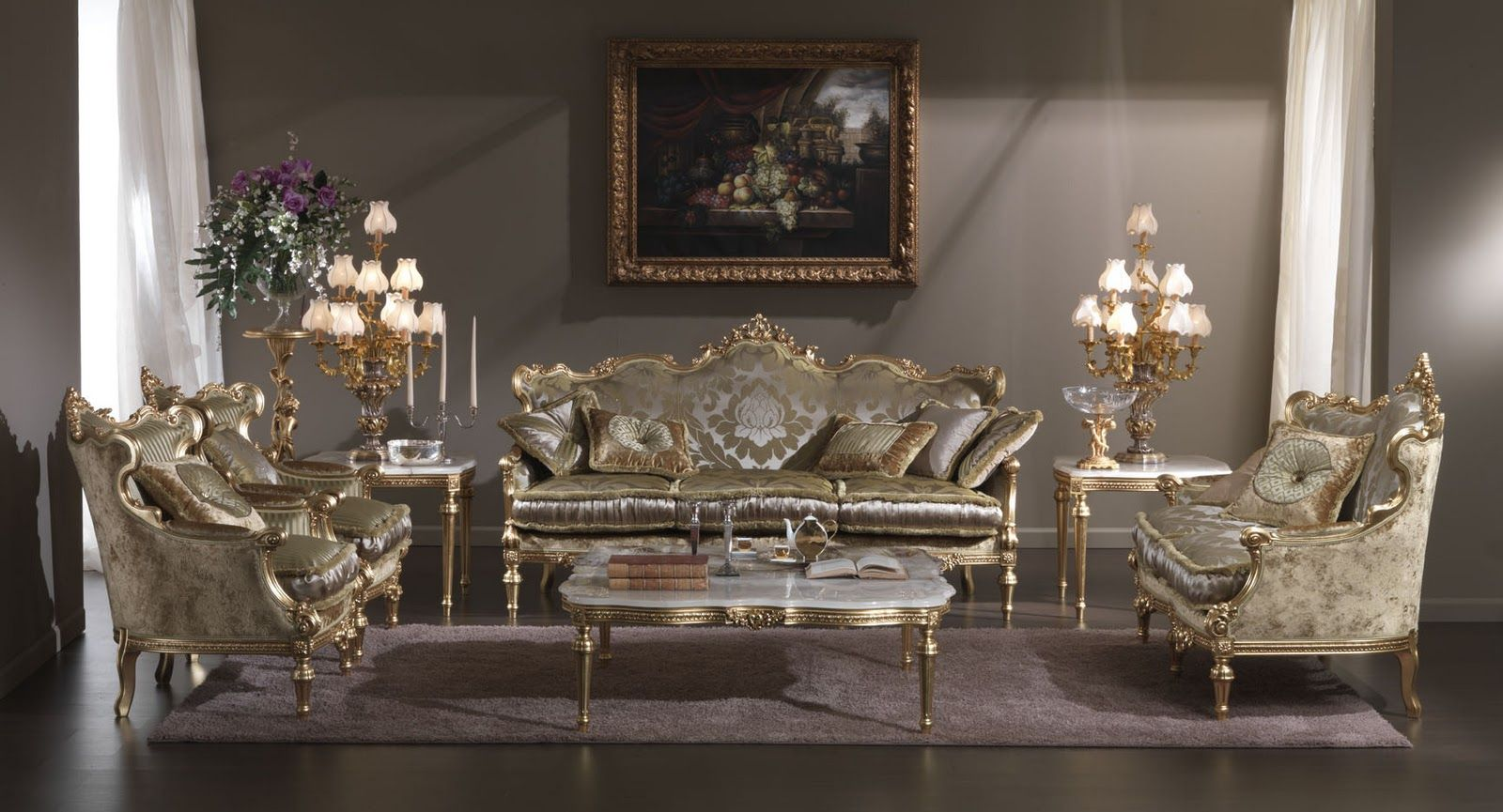 Elegant Antique Living Room Furniture Set Decoration Ideas Home