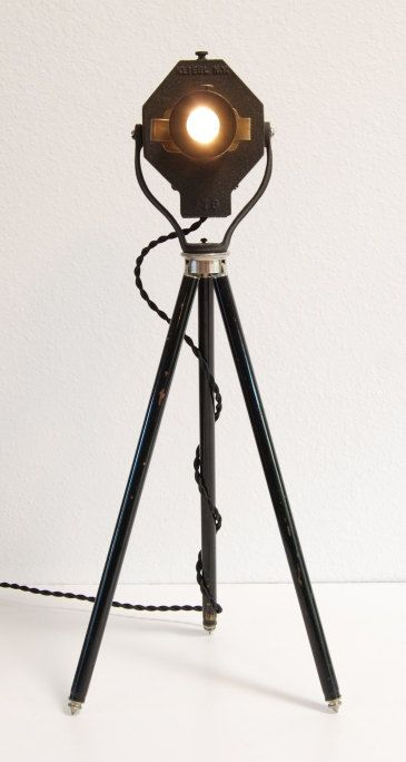 40 39 s vintage table desk tripod lamp theater stage for 13 a table theatre