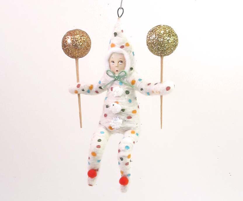 Spun Cotton Vintage Style Clown Child Ornament by VintagebyCrystal on Etsy https://www.etsy.com/listing/221463048/spun-cotton-vintage-style-clown-child