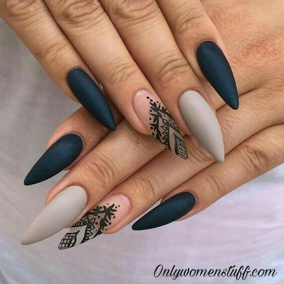 33 Cute Long Nail Art Designs With Pictures Nails Pinterest