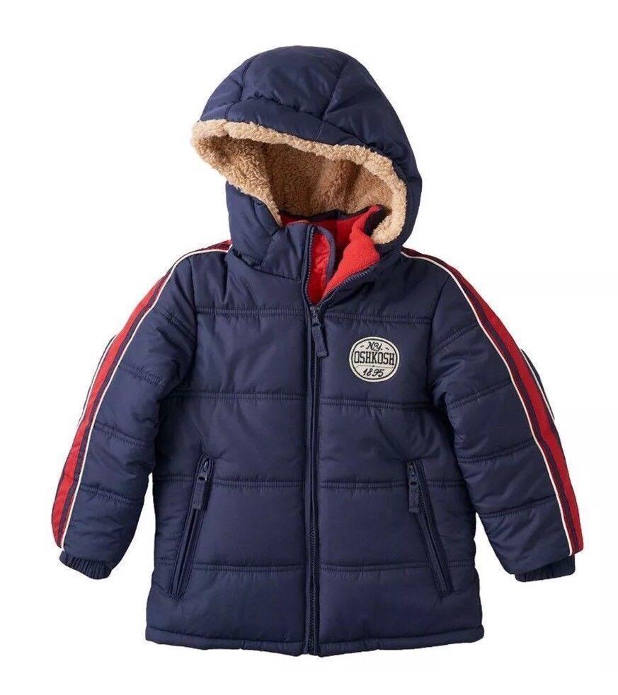 Oshkosh Boys Fleece Navy Blue Red Warm Winter Coat Puffer Jacket Size M 5 6 Oshkoshbgosh Pufferjacket Every Jackets Boys Winter Jackets Winter Puffer Coat [ 983 x 873 Pixel ]