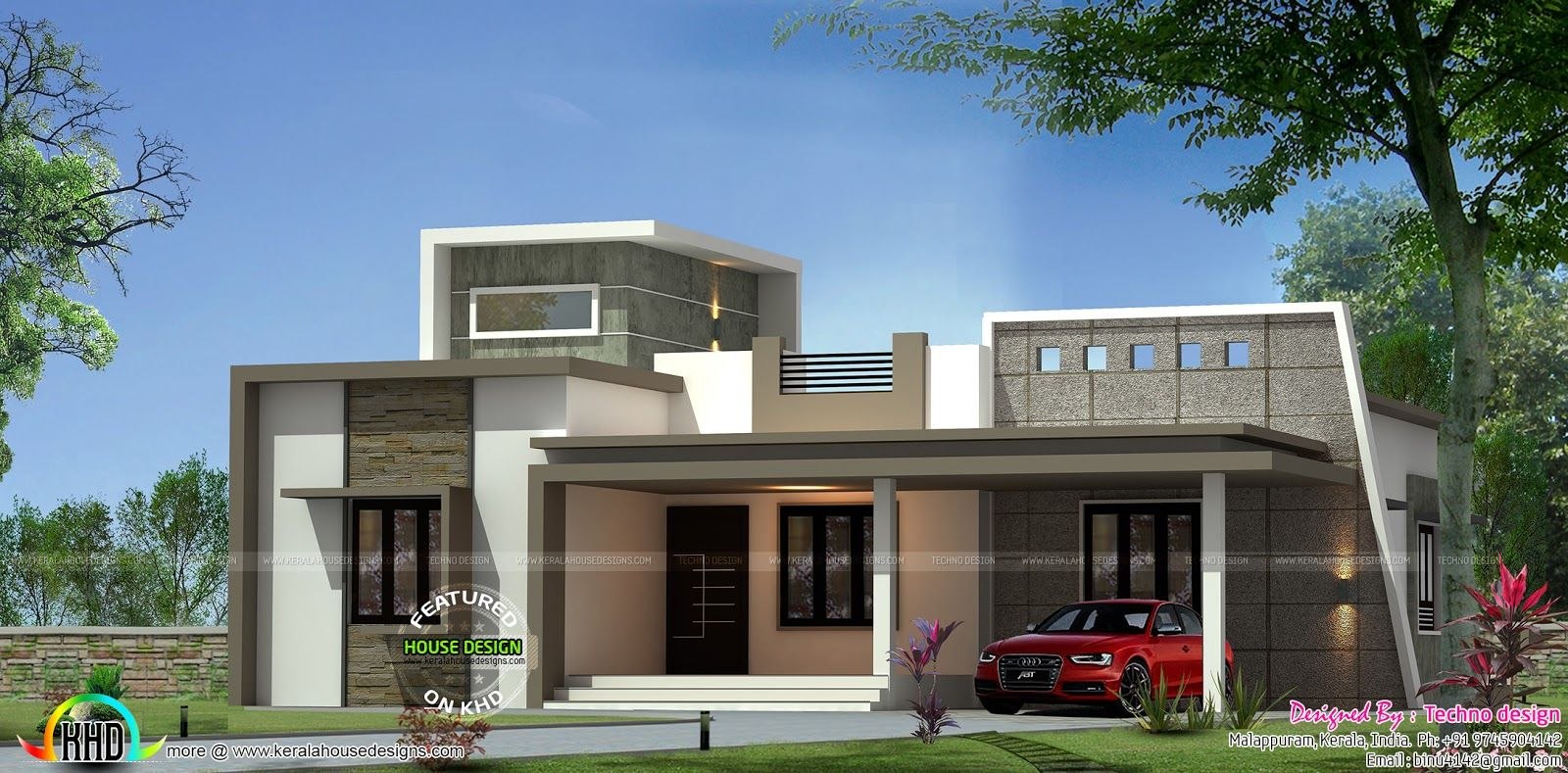 Imagen Relacionada Kerala House Design Single Floor House Design House Front Design