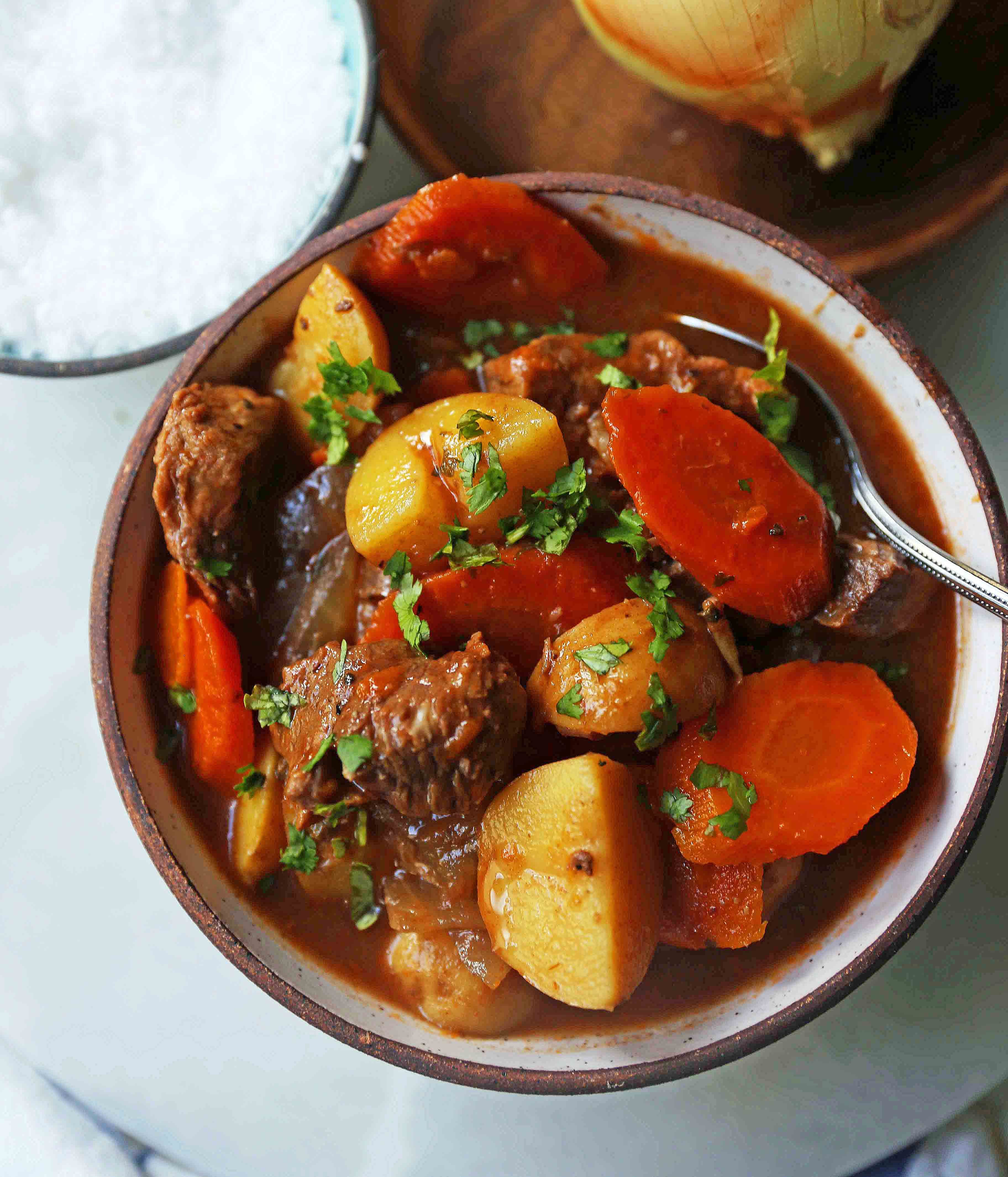 Hearty Beef Stew Recipe Is The Ultimate Comfort Food A Healthy Beef Stew Recipe Using Lean Be Beef Stew Recipe Healthy Lean Beef Stew Hearty Beef Stew Recipes