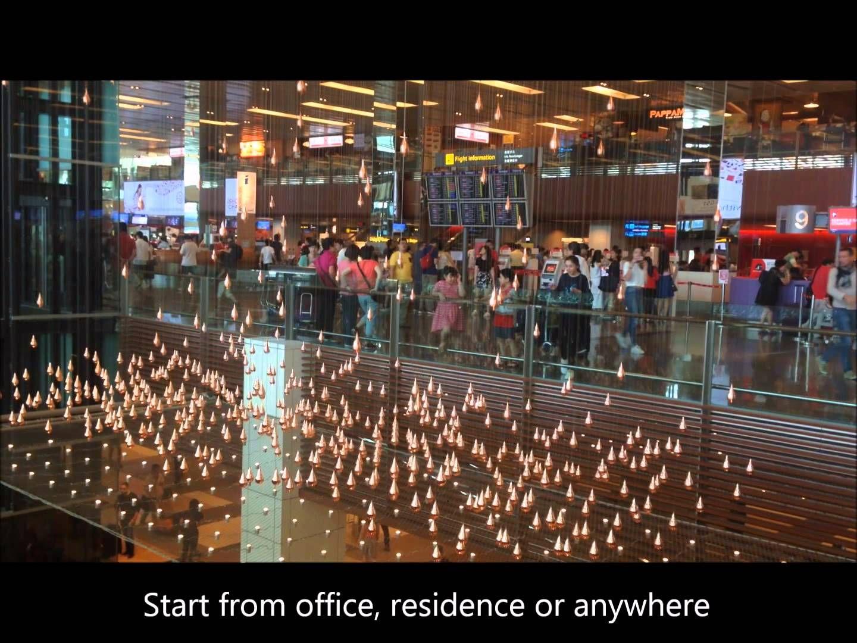Golden Rain Drops At Changi Airport Terminal 1 Http Www Porterxpress Com Singapore Changi Airport Html Singapore Changi Airport Changi Airports Terminal