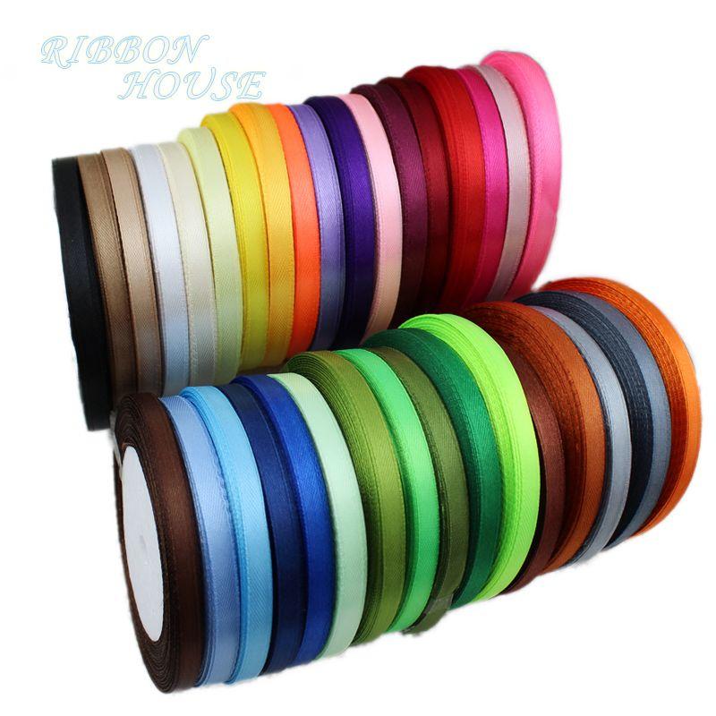 25 yardsroll 6mm single face satin ribbon wholesale gift packing christmas ribbons - Christmas Ribbon Wholesale