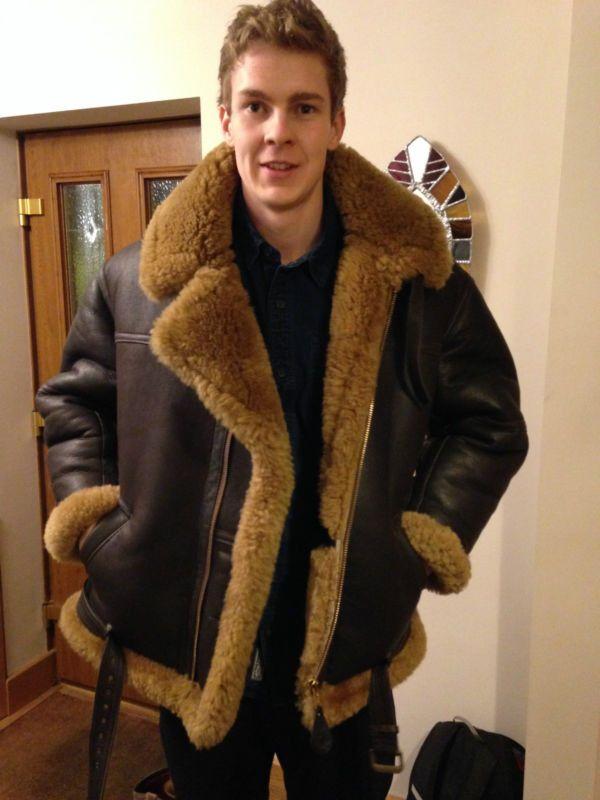 Irvin jacket sheepskinjacket | Men's Shearling | Pinterest ...