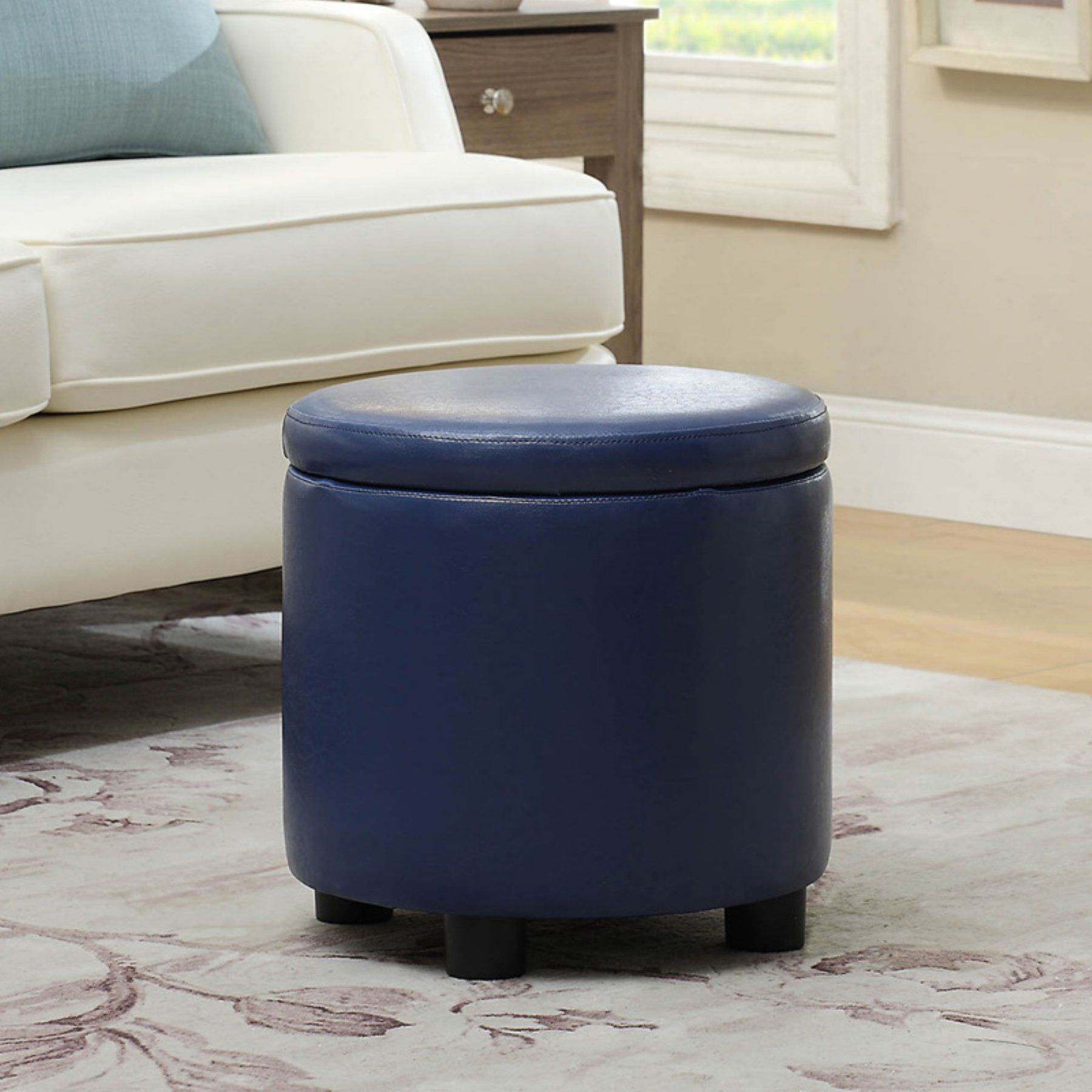 Terrific Convenience Concepts Designs4Comfort Storage Ottoman Pink Short Links Chair Design For Home Short Linksinfo
