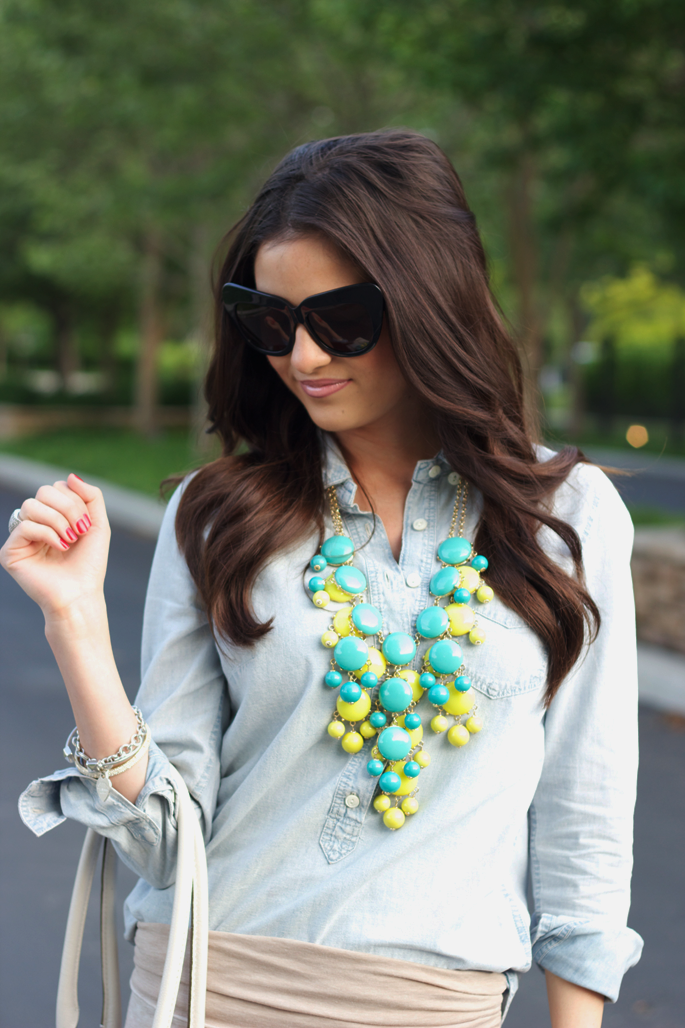 layered statement necklaces.