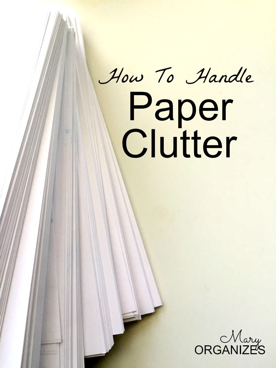 How to Handle Paper Clutter :: OrganizingMadeFun.com
