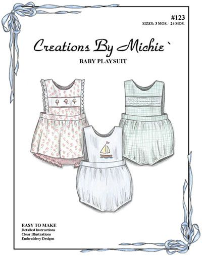 Baby Playsuit: great pattern to smock, shadow stitch, or applique ...