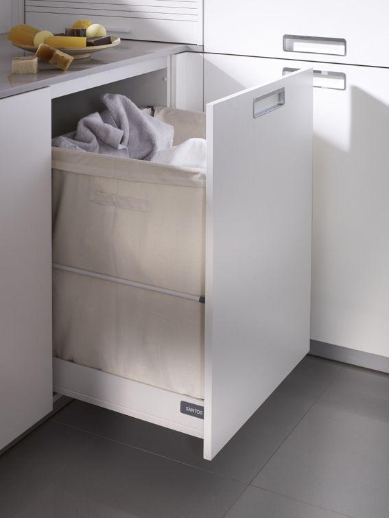 Mueble para ropa sucia buscar con google muebles for Lavadero de cocina con mueble