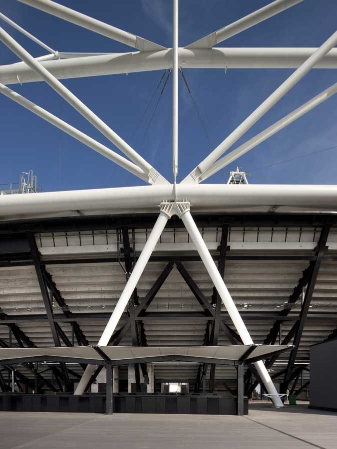 London olympic stadium steel joint system structure