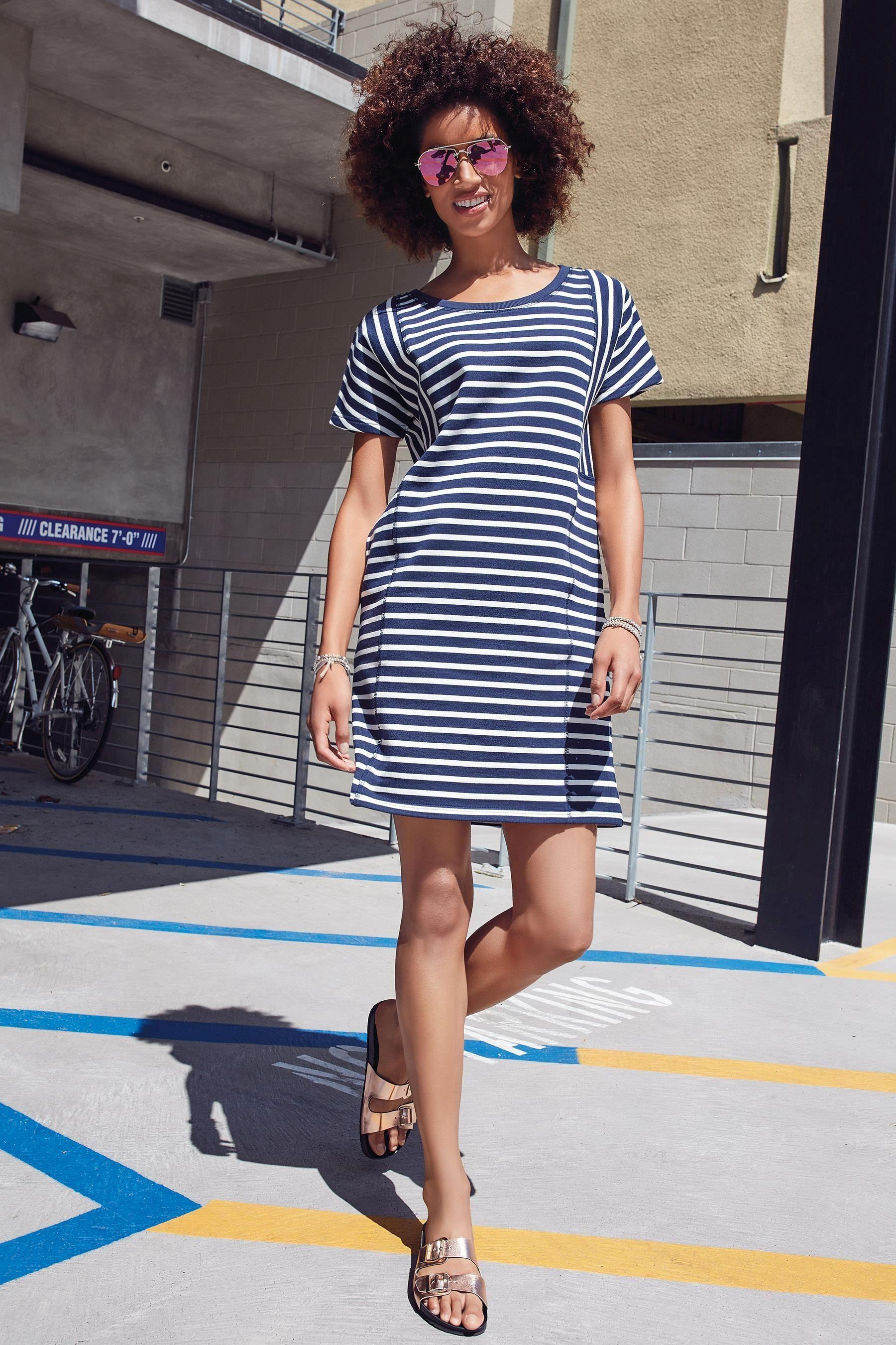 cf2c0feb526 Buy Stripe Sweat Dress from the Next UK online shop