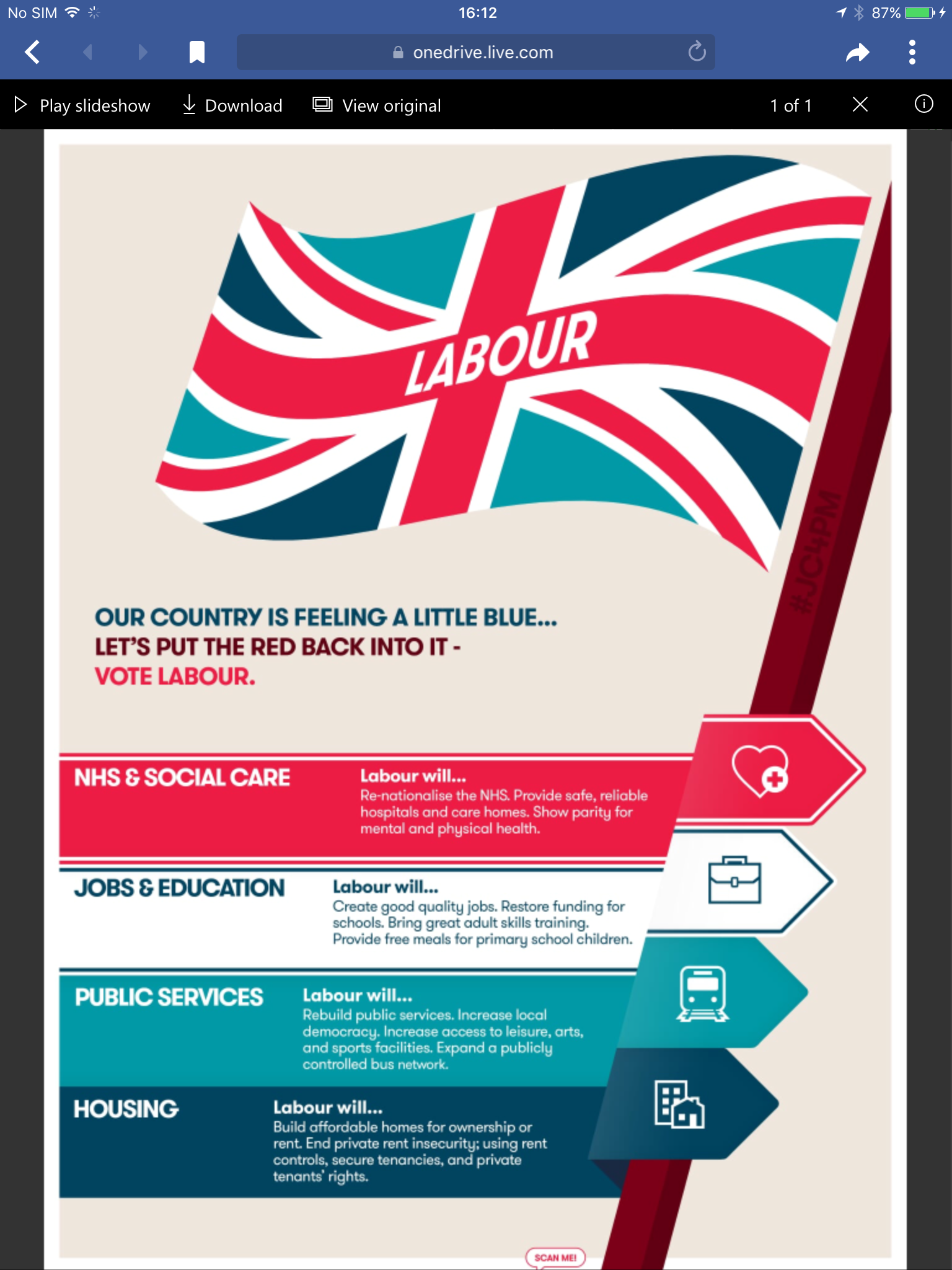 Poster design online free download - Design A3 Poster Online Vote Labour Flag Poster Available As An A4 Or A3 Pdf Download