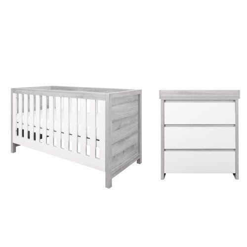 Modena Cot Bed 2 Piece Nursery Furniture Set Tutti Bambini