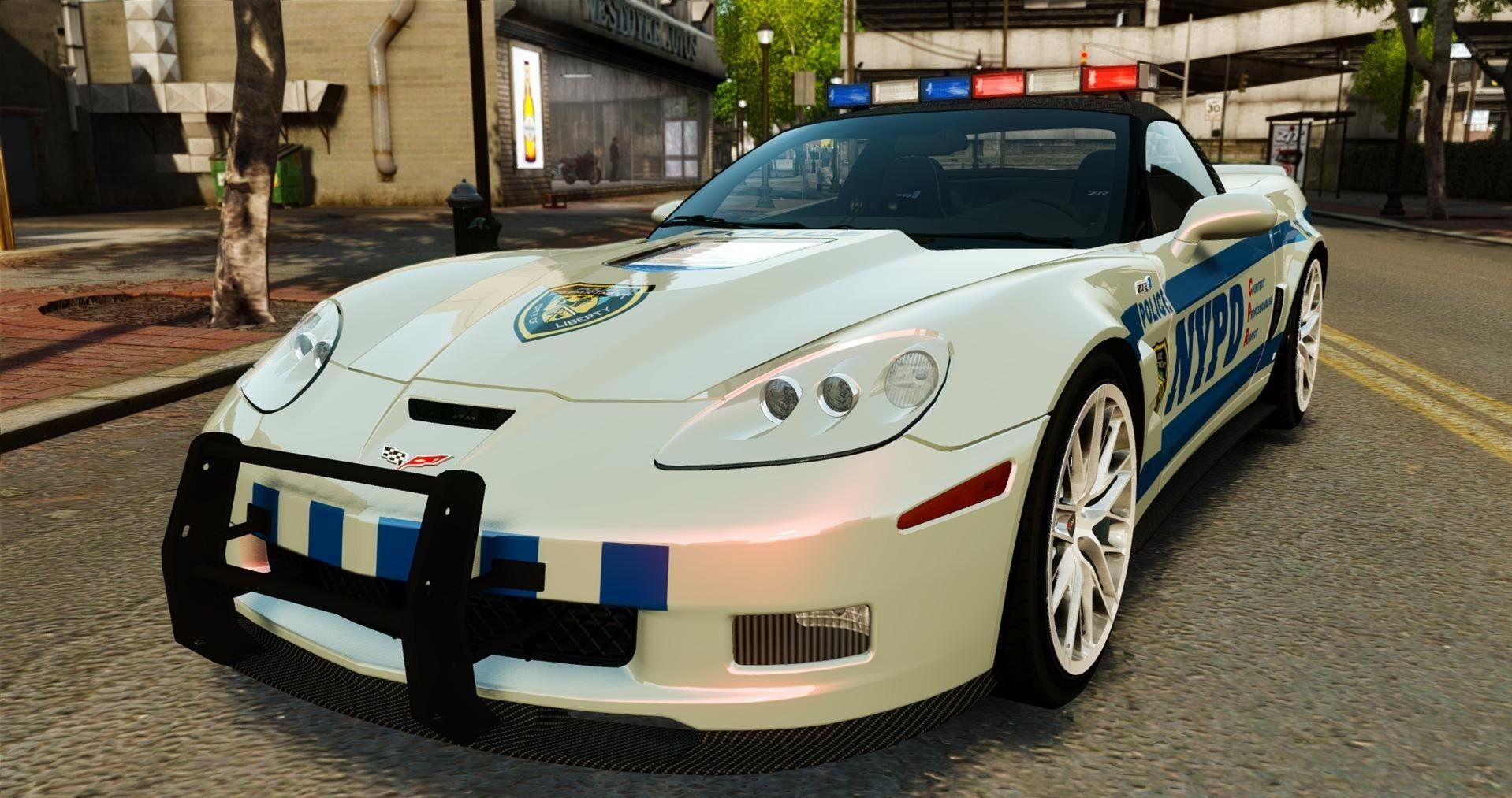 Corvette Police Car: Chevrolet Corvette Zr1 Gt5 Police Car Modifications