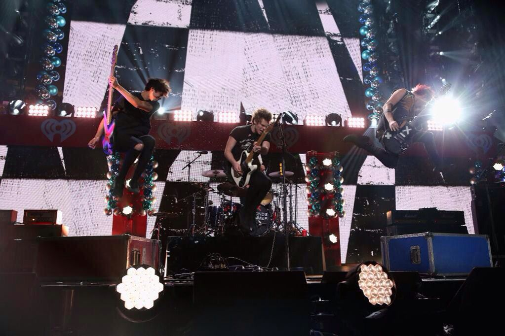 5sos (dec.12) on stage at Jingle ball in NYC