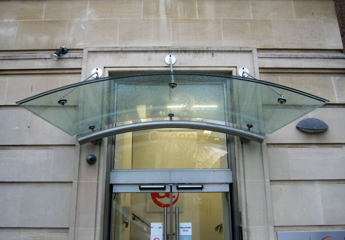 Curved Laminated Glass Canopy Bristol Laminated Glass Glass Porch Curved Glass