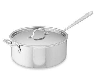 All Clad Tri Ply Stainless Steel Deep Saute Pan 6 Qt All Clad Stainless Steel Cookware Stainless All clad 6 quart saute pan