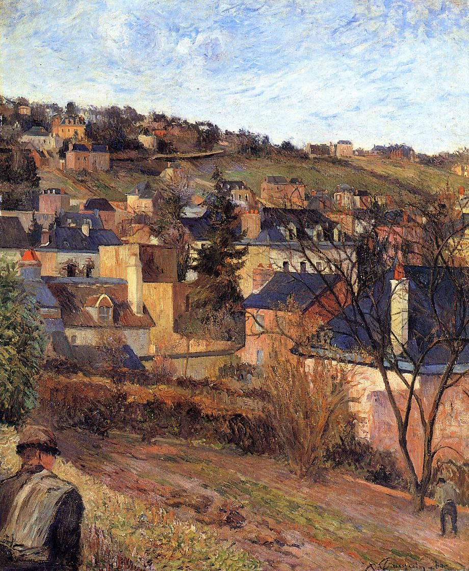 Gauguin. Blue roofs of Rouen, 1884.