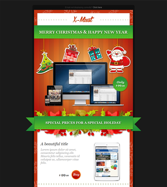 This Christmas Newsletter Email Template Features Mailchimp