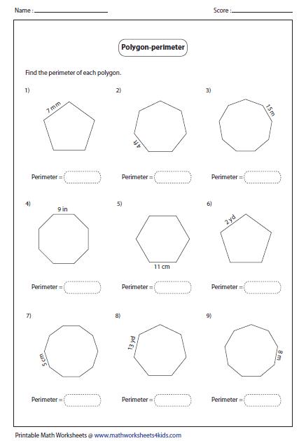 Perimeter Of Polygon 3rd Grade Math 3rd Grade Math