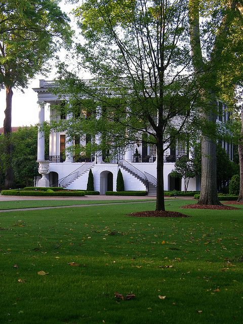 President S House On The Campus Of The University Of Alabama S Main Campus In Tuscaloosa