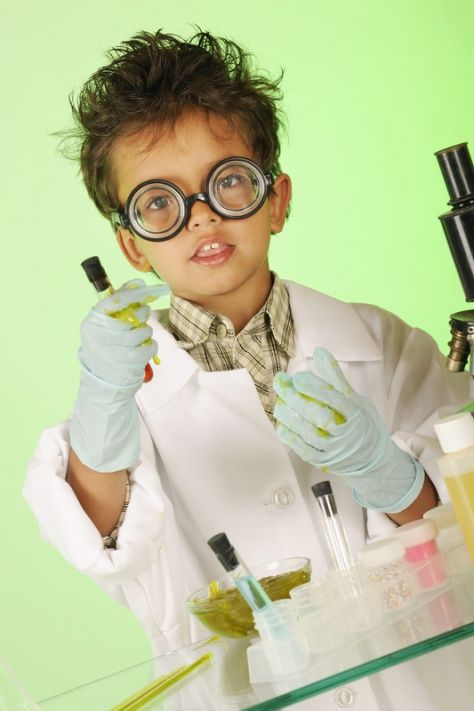 Mad Scientist Costume: Jman can be like his daddy!