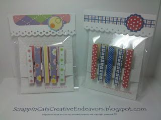Welcome to                  Scrappin' Cat's Creative Endeavors: Altered clothes pins