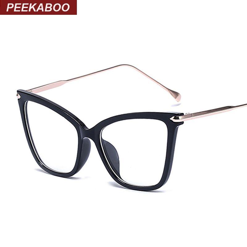 Peekaboo negro sexy fashion eyewear del ojo de gato diseñador de la ...