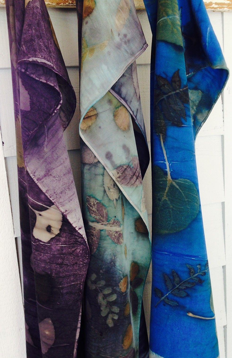 Echo Print Silk Scarves Eco Print Scarf Eco Dyed Scarf How To