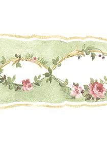 light green and rose with almond cutouts Romantic