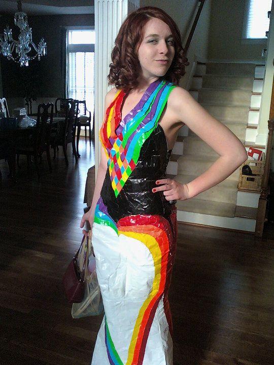 Prom dress duct tape messiah
