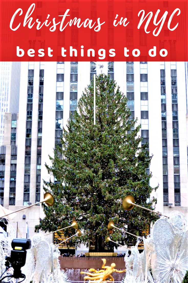 Christmas in NYC is truly a magical time. The city gets beyond festive and there are countless holiday events everywhere. Here are best things to do during Christmas in New York City, that cannot be missed. #christmas #nyc #christmasinnyc
