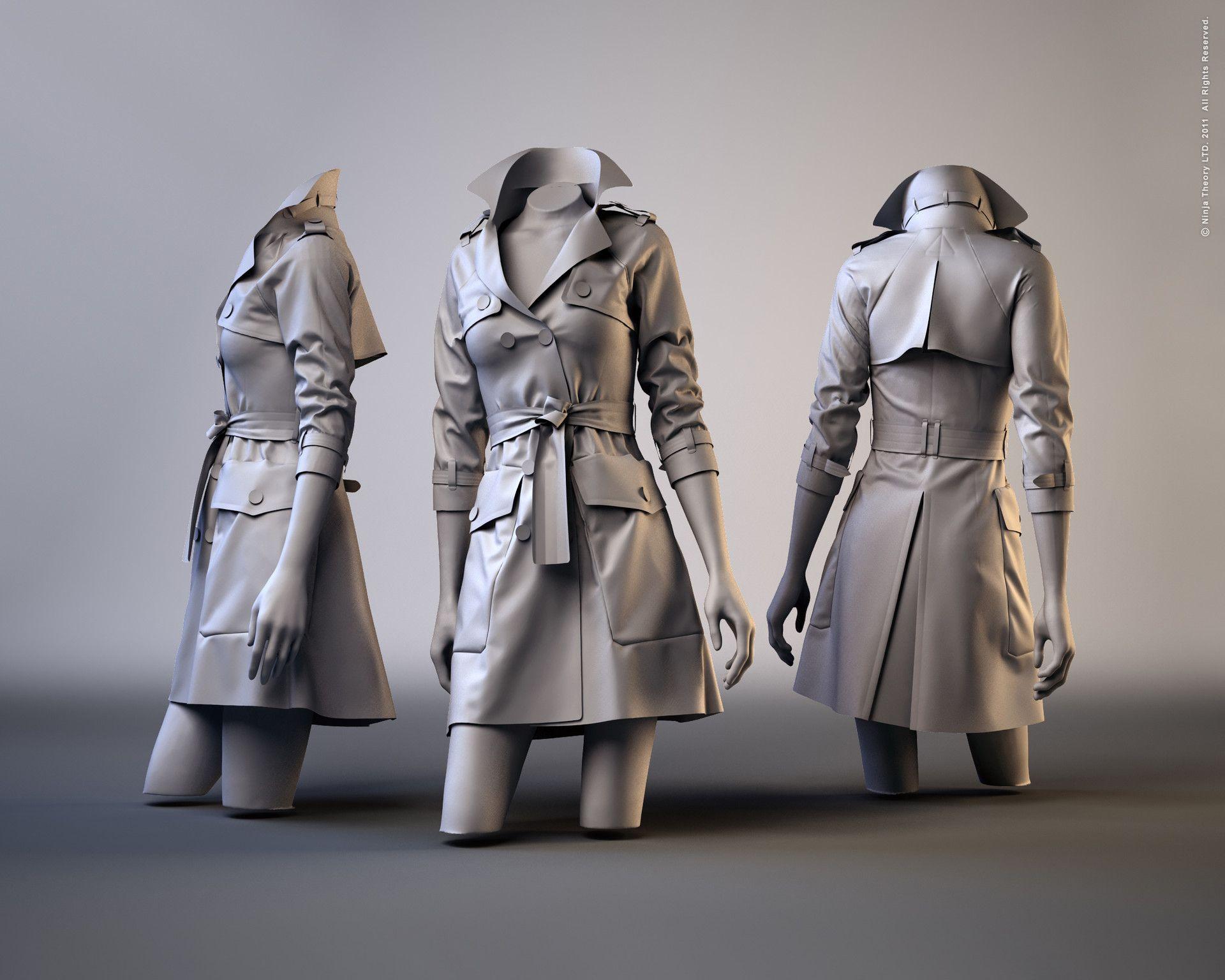 ArtStation - Trench Coat in Marvelous Designer, Jeen Lih Lun