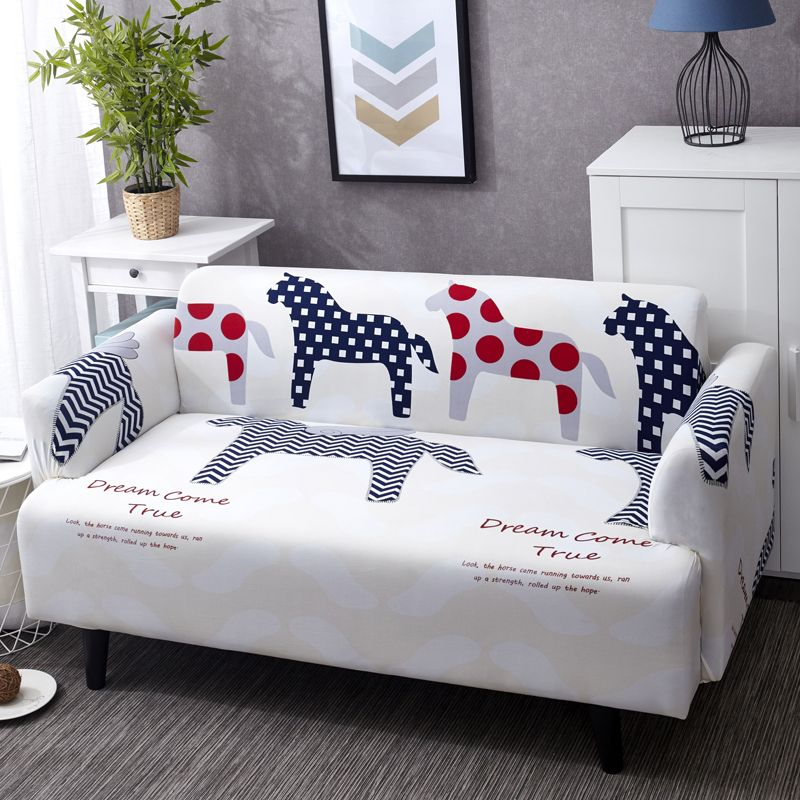 Usd30 90 Elastic Sofa Cover Print With Cartoon Zebra Suitable For Living Room Stretchable Design For Single D Sofa Covers Corner Sofa Covers Slip Covers Couch
