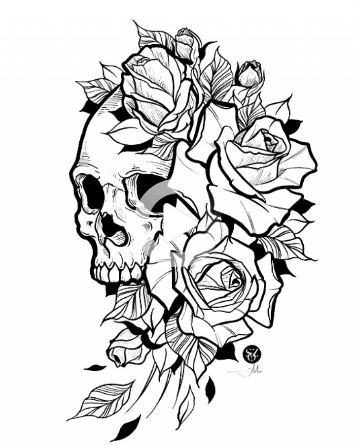 Bocetos De Tatuajes Bocetos De Tatuajes Calaveras Para Tatuar Tatuajes De Craneo Con Flores Calaveras Tatuajes