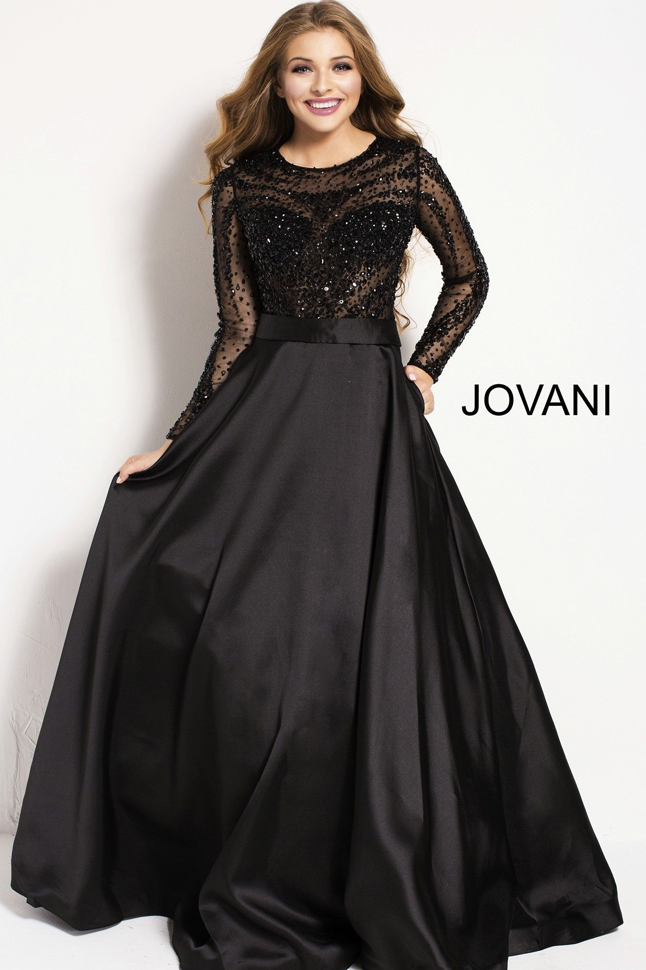 7f7378337d Enjoy the magic of Jovani 46066. This whimsical ball gown features a sheer