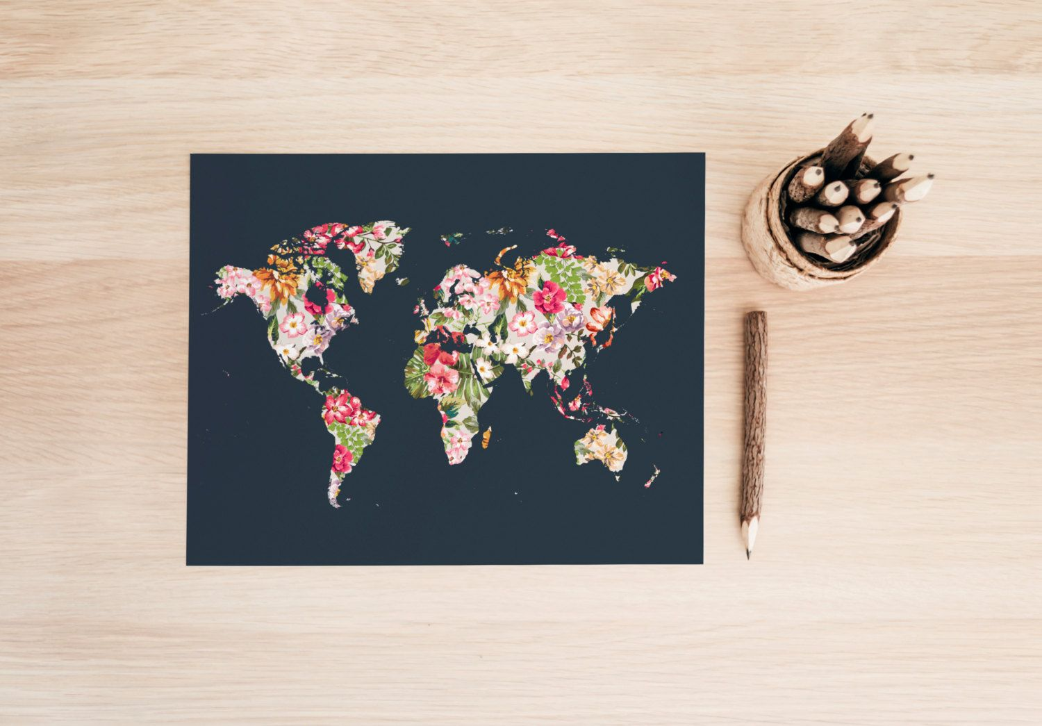 Printable art typography art print floral world map art print world printable art typography art print floral world map art print world map print travel art print travel wall art floral wall art tropical map 150 usd by gumiabroncs Gallery