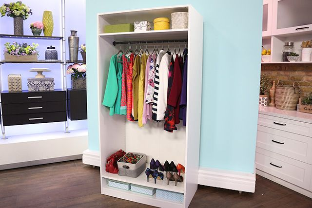 Attrayant Interior Designer From U0027The Expandablesu0027, Mia Parres, Breaks Down How To Make  Your Own Closet And Storage Space With Pre Fab Finds.
