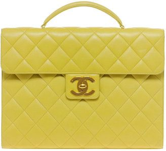 ace66e834e71 ShopStyle  Vintage Heirloom Chanel Yellow Briefcase
