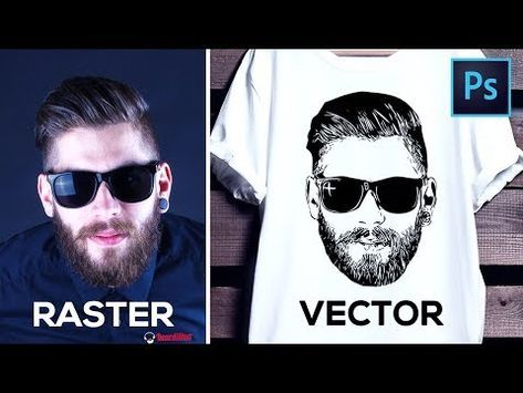 f9a59992c How to Convert Raster Image into Vector in Photoshop - YouTube ...