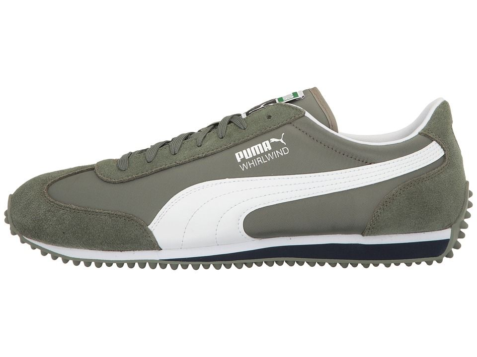 PUMA Whirlwind Classic Men's Lace up casual Shoes Agave Green/Puma White
