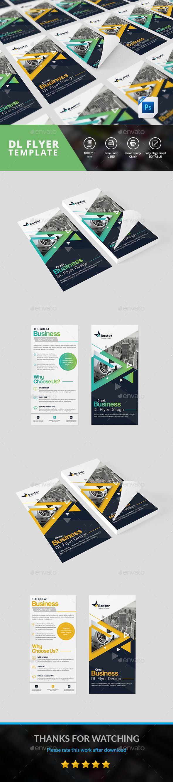 Dl Flyer Flyer Template Template And Business Flyers