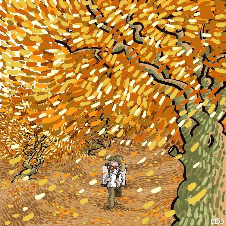 Un ilustrador recrea la vida de Van Gogh con un cómic lleno de color