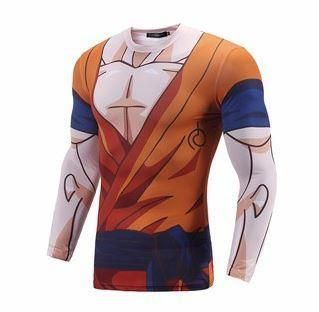 f061523b6b0e Goku Uniform Whis Symbol Long Sleeves Skin Gear Compression 3D Shirt  dbz   dragonball  shirts